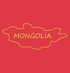 flag map of mongolia vector image