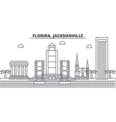 Florida jacksonville architecture line skyline vector