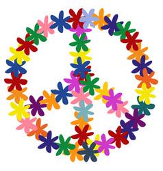 Floweral peace symbol vector
