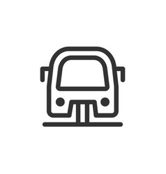 funicular front view outline style icon vector image
