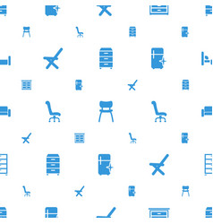 Furniture icons pattern seamless white background vector