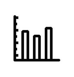 graph icon in trendy flat style isolated on grey vector image