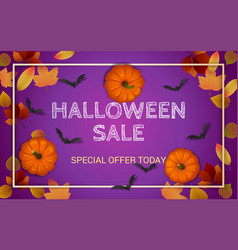 halloween sale composition 03 vector image