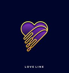 heart luxury template vector image