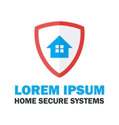 Home Secure System Logo Design vector image
