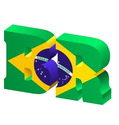 Internet top-level domain of brazil vector