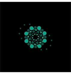 Isolated abstract turquoise color flower vector