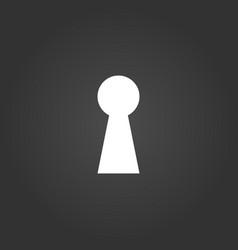 key hole icon isolated on black modern background vector image