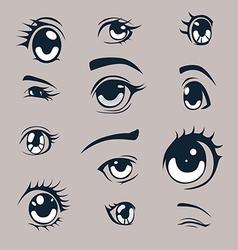Manga style eyes vector