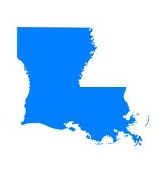 Map of Louisiana vector