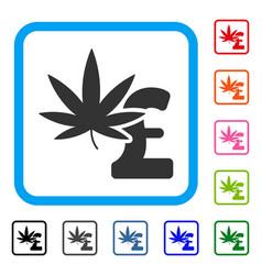 marijuana pound business framed icon vector image