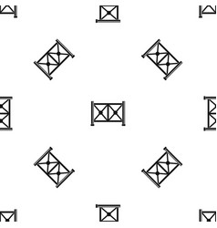 metal fence pattern seamless black vector image