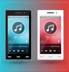 Modern smartphone with musical player on the vector