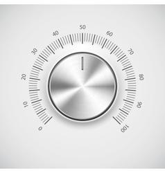 Modern volume knob button vector