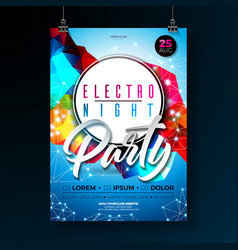 Night dance party poster design with abstract vector