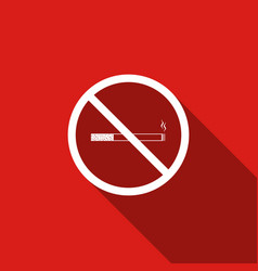 no smoking sign cigarette symbol icon isolated vector image