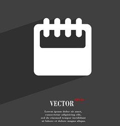 Notepad calendar icon symbol Flat modern web vector image
