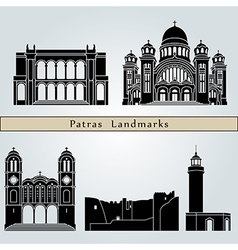 Patras landmarks and monuments vector image