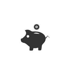 pig money box icon flat vector image
