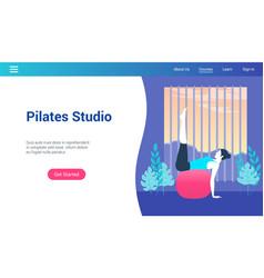 pilates studio lp template vector image