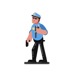 Police sketch officer vector