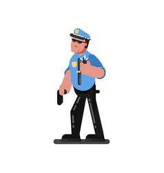 Police sketch officer vector
