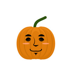 Pumpkin sleeping emoji halloween and thanksgiving vector