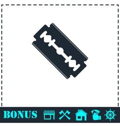 Razor icon flat vector