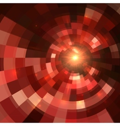 Red abstract circle mosaic background vector