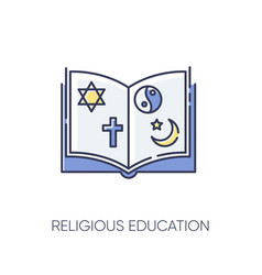Religious education rgb color icon vector