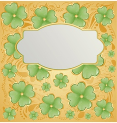 Retro background for St Patrick Days vector image