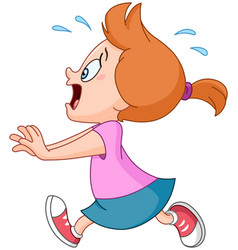 Running panic girl vector