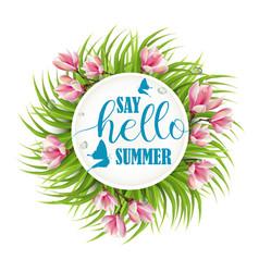 say hello summer vector image