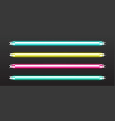 set color neon tube lights vector image