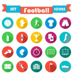 Set of icons in flat style vector image