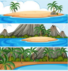set of summer beach vector image