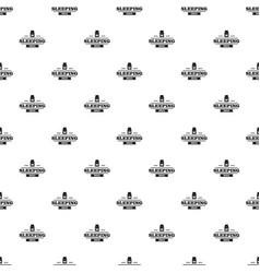 Sleeping pill pattern seamless vector