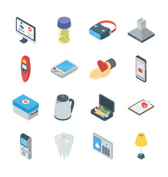 Smart gadgets and home appliances icons vector