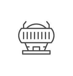 stadium line icon vector image