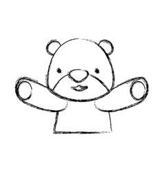teddy bear cartoon infantile vector image