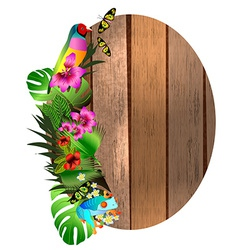 tropical flowers and leaves and beautiful vector image