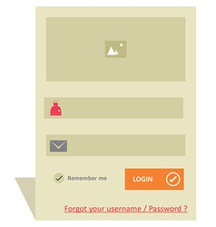 User login 47 vector image
