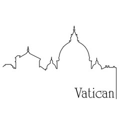 Vatican city one line drawing background vector