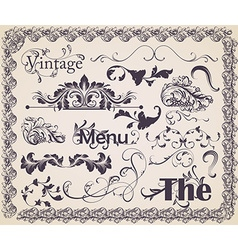 Vintage Calligraphic Set vector