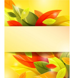 autumn background with color leaves vector image vector image