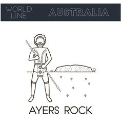 Ayers rock australia vector