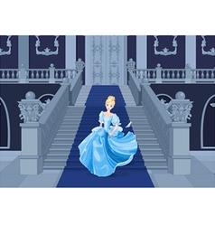 Cinderella Runs Away vector image vector image