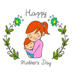 cute mother day style collection vector image vector image