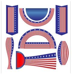 Ribbon banner flag American vector image vector image