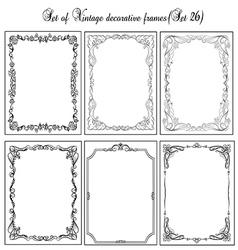 Set of vintage borders26 vector image